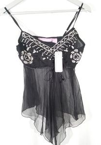 Speed Limit sheer black camisole lingerie.  Size S